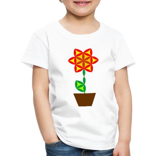 The Flower Of Life - Sacred Plants. - Kids' Premium T-Shirt