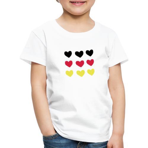 Deutschland Weltmeisterschaft 2018 DE WM Herz - Kinder Premium T-Shirt
