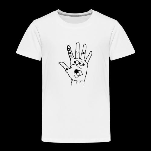 hand with symbols - Camiseta premium niño