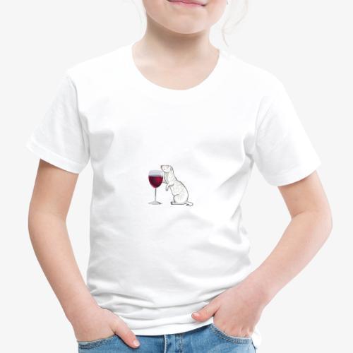 Wine Alone Ferrets - Lasten premium t-paita