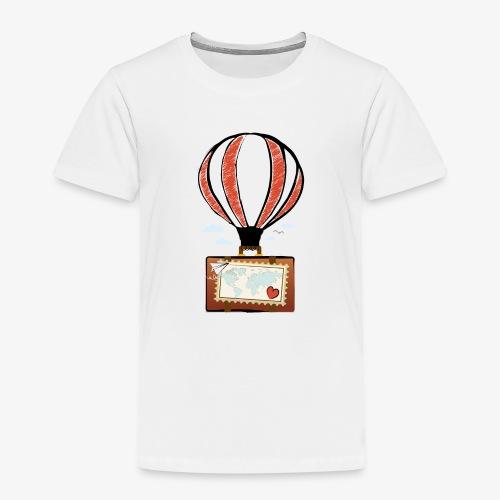 CUORE VIAGGIATORE Gadget per chi ama viaggiare - Maglietta Premium per bambini
