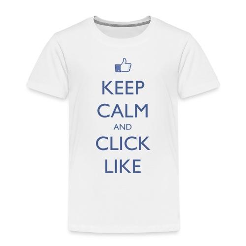 Keep Calm and Click Like - Kids' Premium T-Shirt