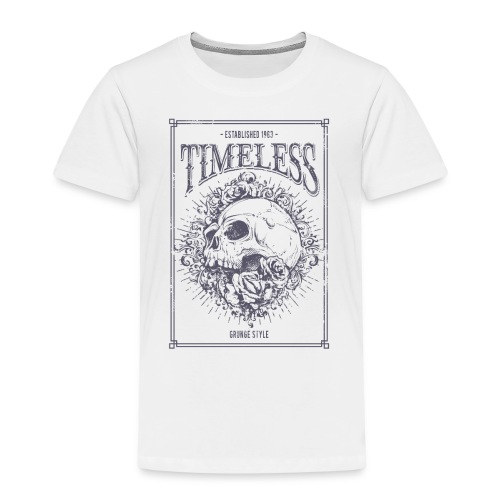 Grunge Punk Skull - Kinder Premium T-Shirt