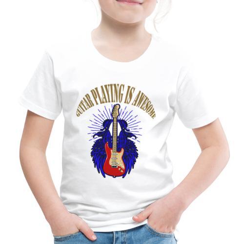 EGuitarBlueRedAwesome - Kinder Premium T-Shirt