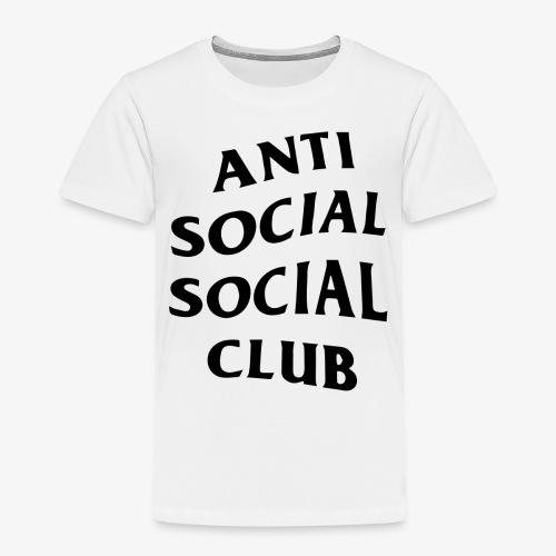 antisocialclub - Premium-T-shirt barn