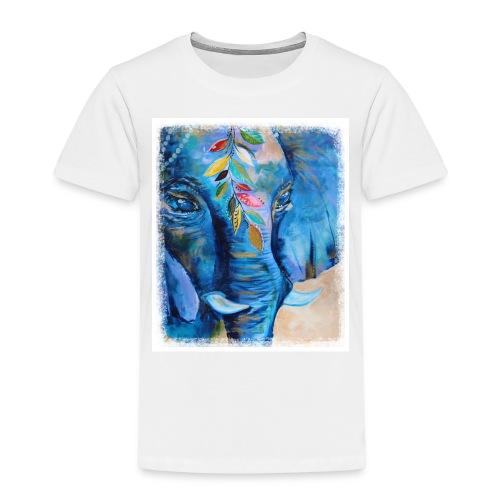 Elefant, Glücksbringer, Indien - Kinder Premium T-Shirt