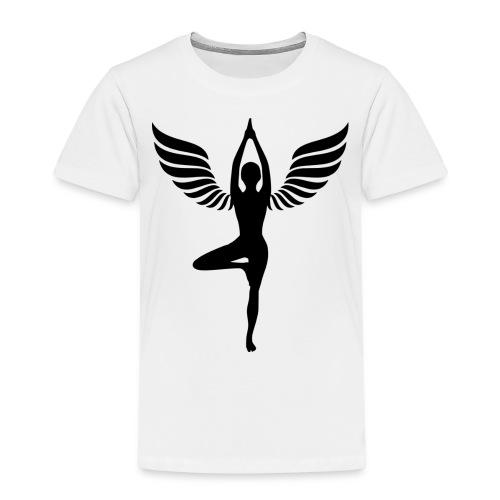 yoga beflügelt - Kinder Premium T-Shirt
