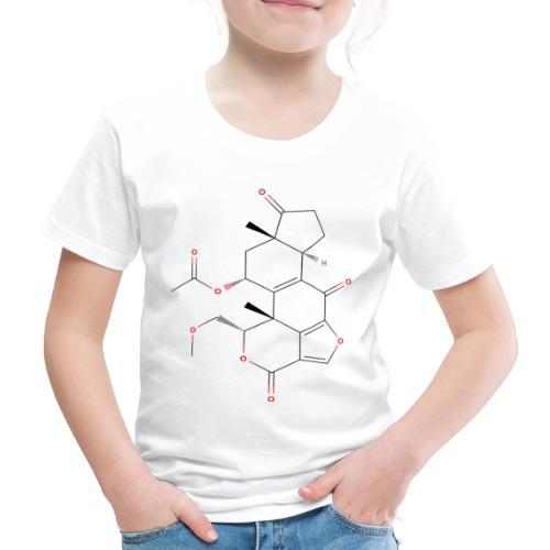 Wortmannin Molecule - Colored Structural Formula - Børne premium T-shirt