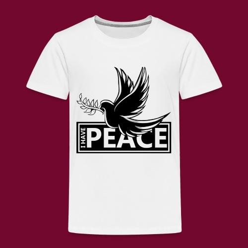 I Have Peace Black - Kids' Premium T-Shirt