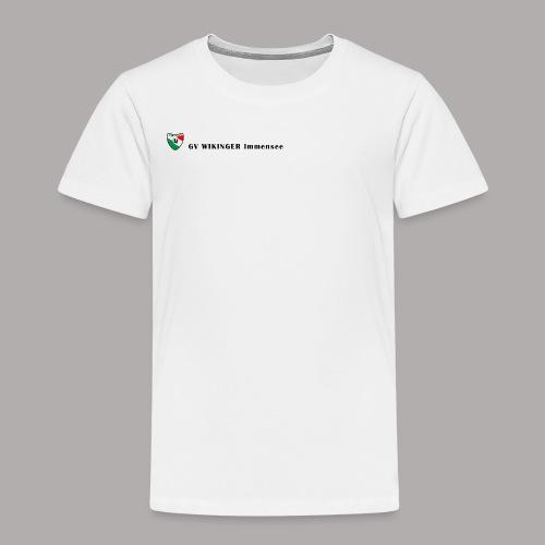 Wappenbanner, schwarz(vorne)Zirkel,schwarz(hinten) - Kinder Premium T-Shirt