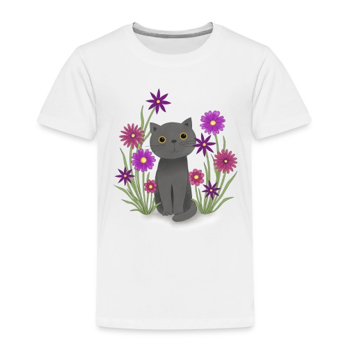 Abby in der Blumenwiese - Kinder Premium T-Shirt