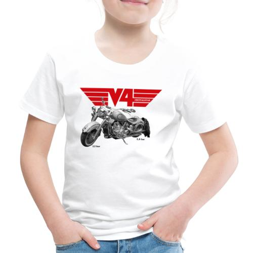 V4 Motorcycles red Wings - Kinder Premium T-Shirt