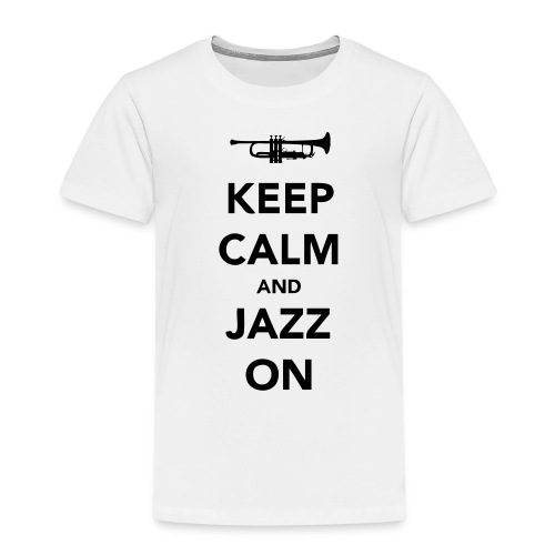 Keep Calm and Jazz On - Trumpet - Kids' Premium T-Shirt