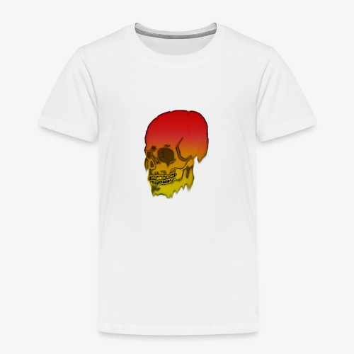 Red and yellow skull melting - Kids' Premium T-Shirt