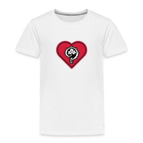 herz shirt weiss hoch 25cm ok - Kinder Premium T-Shirt