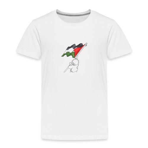 Hvid hættetrøje - Børne premium T-shirt