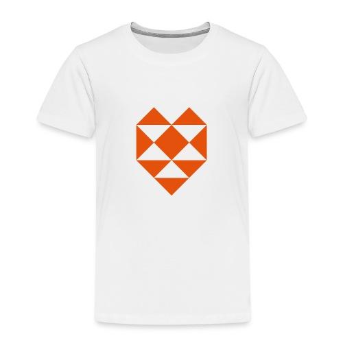 Herz Dreieck - Kinder Premium T-Shirt