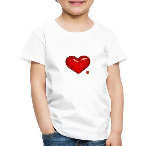 Amore e punto. Cuore. - Maglietta Premium per bambini