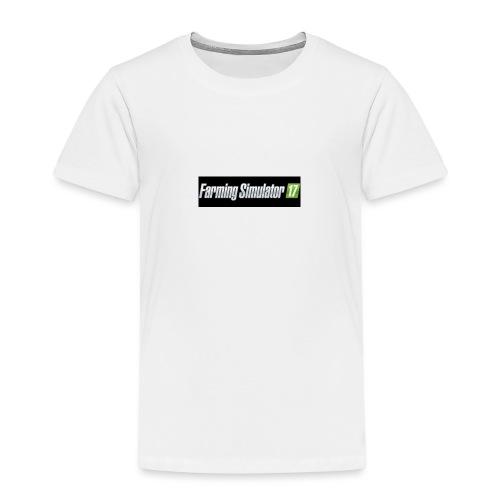 logo av farming simulator 17 - Premium T-skjorte for barn