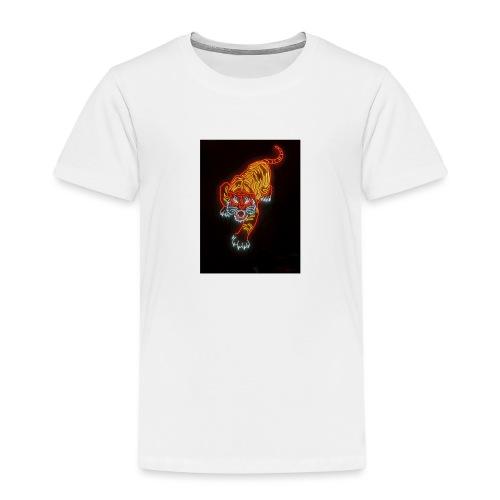 Neon tiger hat - Kids' Premium T-Shirt