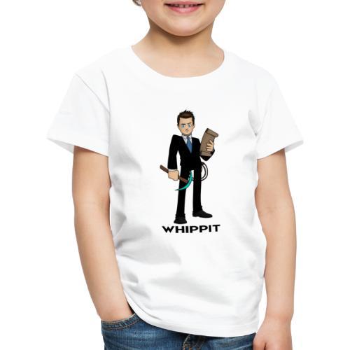 ChrisWhippit Spel avatar (svart text) - Premium-T-shirt barn