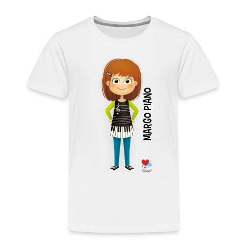 Margo Piano T-Shirt Noir - T-shirt Premium Enfant