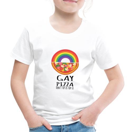 Gay Pizza   LGBT   Pride - Kinder Premium T-Shirt