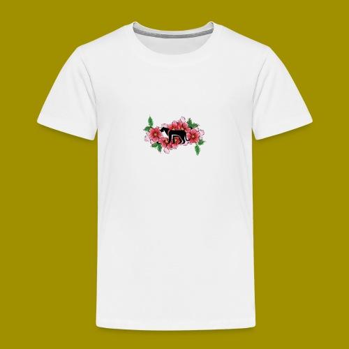 Sakura Leafs, Flowers and Black Tiger Avatar - Kids' Premium T-Shirt