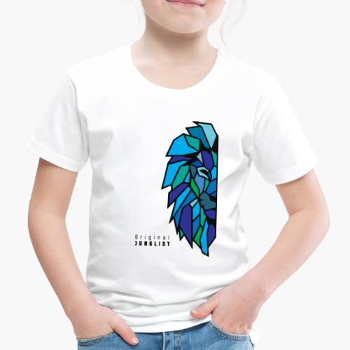 Lion's Head [blue] - Koszulka dziecięca Premium