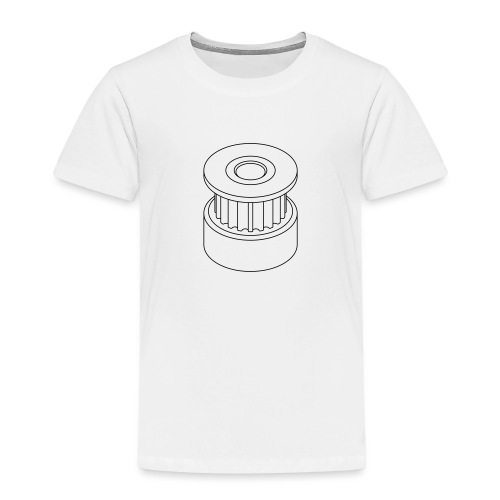 20T GT2 Pulley (no text). - Kids' Premium T-Shirt