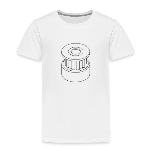 20T GT2 Pulley (no text). - Kids' Premium T-Shirt