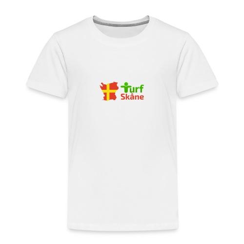 Turf Skåne Logo röd - Premium-T-shirt barn