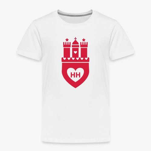 I Love Hamburg 1c - Kinder Premium T-Shirt