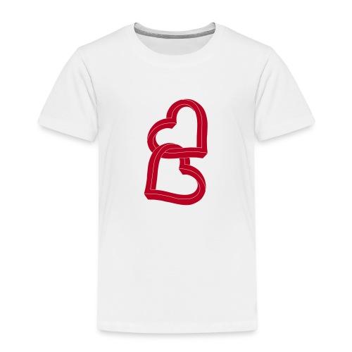 Due cuori uniti ca27 - Maglietta Premium per bambini