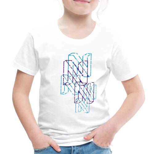 Neos logo back trashed without URL, 2-color - Kids' Premium T-Shirt