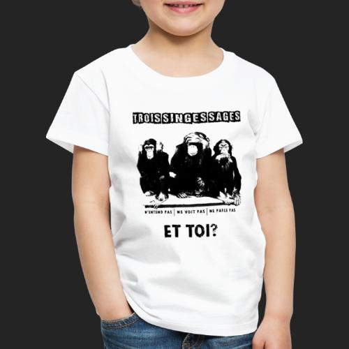Three wise monkeys - T-shirt Premium Enfant