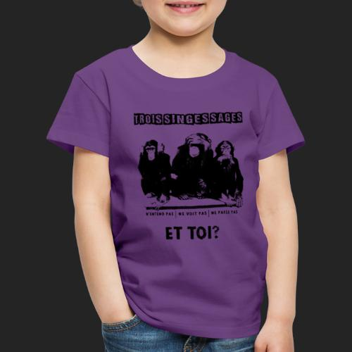 Three wise monkeys - T-shirt Premium Enfant