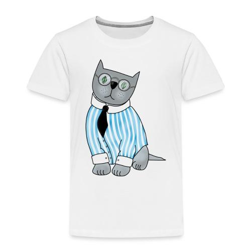 Cat with glasses - Kids' Premium T-Shirt