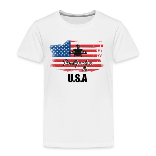 Proud American T-Shirt by Louittor - Kinder Premium T-Shirt