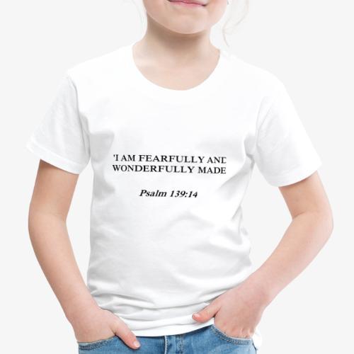 Psalm 139:14 black lettered - Kinderen Premium T-shirt