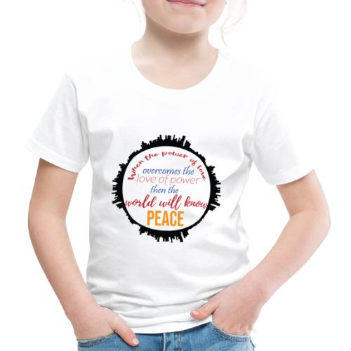 Love and Peace - Kids' Premium T-Shirt
