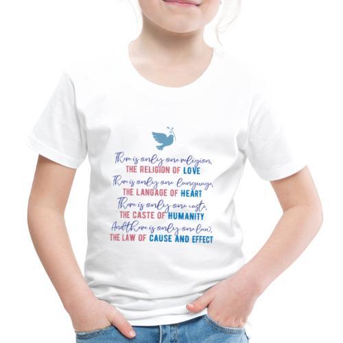 The Religion of Love - Kids' Premium T-Shirt