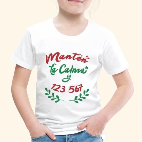 Ugly Christmas T-Shirt - Keep Calm and dance Salsa - Kids' Premium T-Shirt