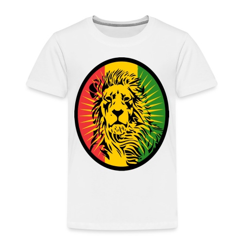 Lion Art flag Dreadlock Rastafari for Rasta lover - T-shirt Premium Enfant