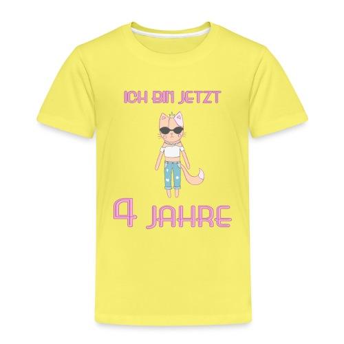 Ich bin jetzt 4 Jahre / Geschenk zum 4. Geburtstag - Kinder Premium T-Shirt