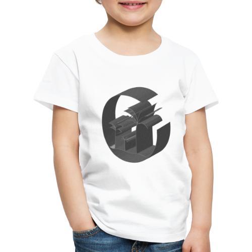 3D Miami Palm Trees Badge - Kids' Premium T-Shirt