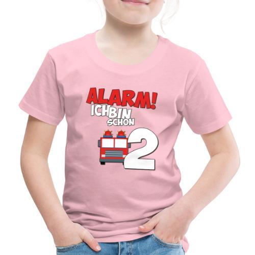 Feuerwehrauto 2. Geburtstag Jungen 2 Jahre - Kinder Premium T-Shirt
