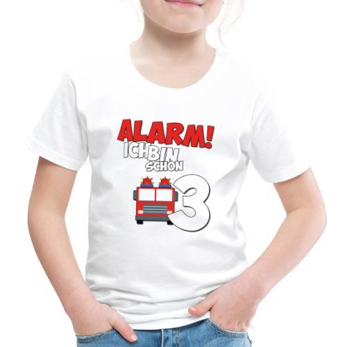 Feuerwehrauto 3. Geburtstag Jungen 3 Jahre - Kinder Premium T-Shirt