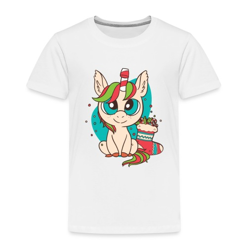 Unicorn Christmas - Kinder Premium T-Shirt