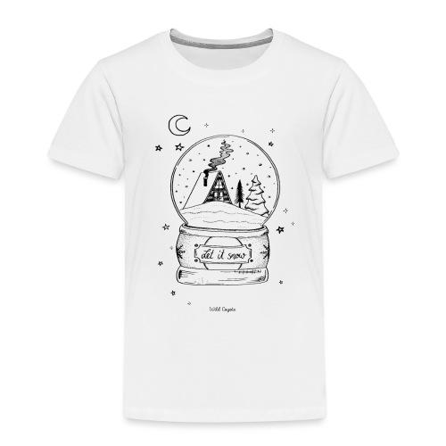 Winter Schnee Bild Kinder Liebe Weihnachten Hütte - Kinder Premium T-Shirt
